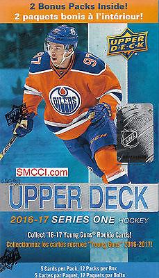 2016 17 2017 Upper Deck Series 1 NHL Hockey Unopened Blaster Box Jersey Rookies