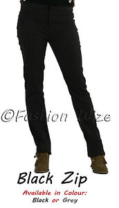 Ladies-Work-Girls-School-Trousers-Size-4-6-8-1012-14-16-Skinny-Leg-Black-Grey