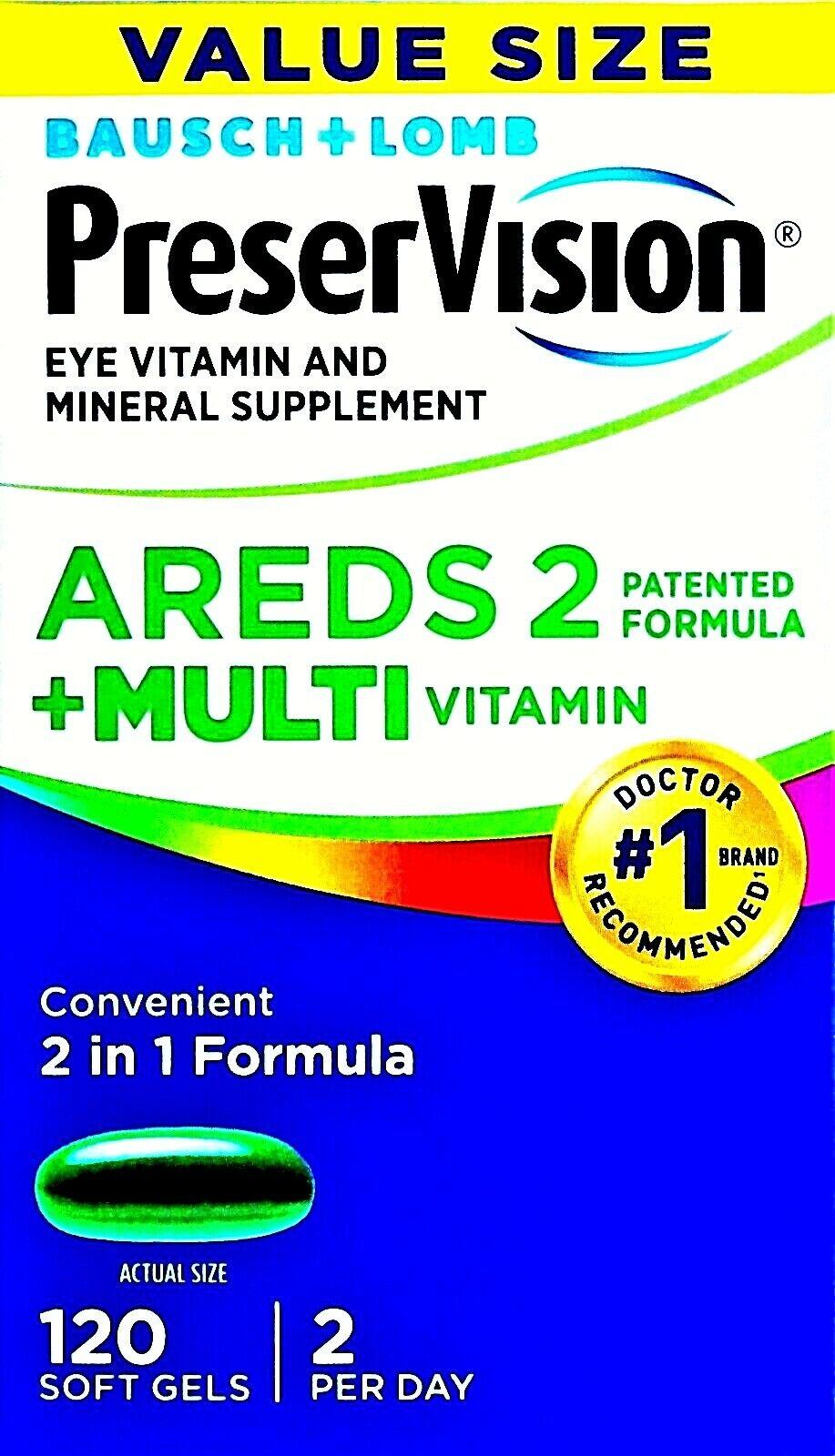 5X Areds 2 plus multivitamin eye health vitamins vision care