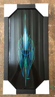 Pinstriped artwork. Framed  Xmas  Gisborne South Macedon Ranges Preview