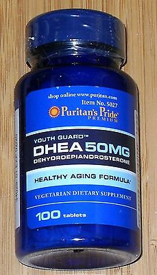 Puritans Pride Dhea 50Mg 100 Tablets Building Muscle Burning Fat Made In Usa