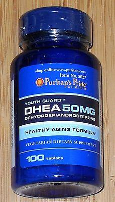 Puritan's Pride DHEA 50mg 100 tabletas muscular edificio en llamas grasa HECHO EN EE.UU.