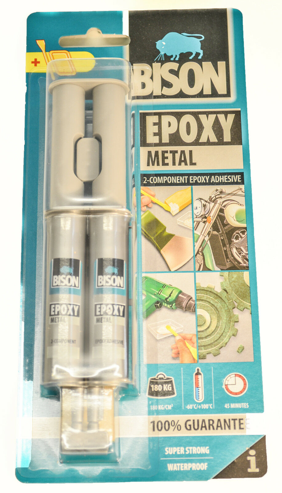 Bison metal bonding epoxy adhesive glue fast cure kit for Credence aluminium adhesive