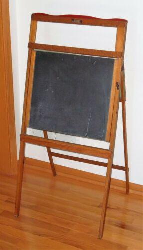 Litho Plate Oak Easel Chalkboard w/Fold Down Desktop Surface, Richmond Furniture