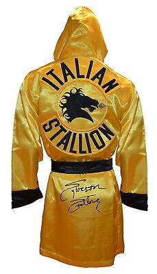 Rocky Italian Stallion Robe (Sylvester Stallone Rocky Balboa Autographed Italian Stallion Robe ASI)
