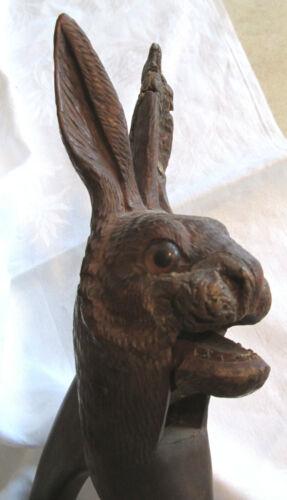 Black Forest Rabbit Nutcracker Carved Wood Germany