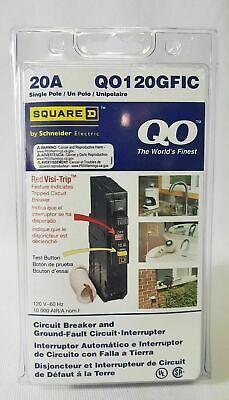 New Square D Schneider 120v 20amp Ground-fault Circuit Breaker Qo120gfic