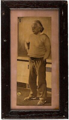 Albert Einstein - RARE Photograph Signed - In Front Blackboard While Lecturing