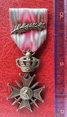 Belgique - Léopold III - Superbe Croix de Guerre avec Palme ´L '  WWII