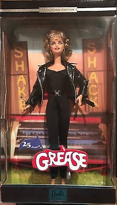 Barbie Sandy Grease 25 Years Black Leather Collector Doll 2003 NEW in Box