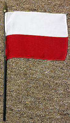 POLAND desk / table flag with spear point - Polish