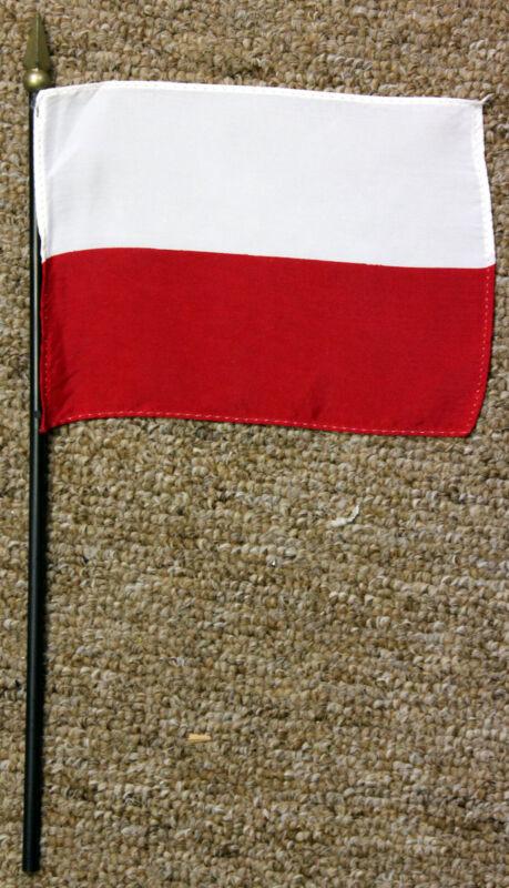 POLAND desk / table flag with spear point - Polish