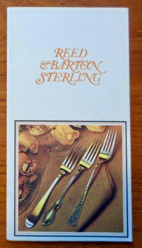 Vintage Reed & Barton Sterling Flatware Brochure 1971 - 23 Patterns