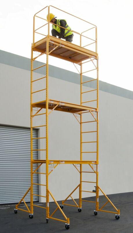 """18 Ft Scaffold Tower With Safety Rail And 32"""" Outriggers"""
