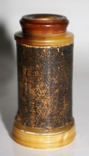 Antique Spyglass Pocket Bezel Voyage Carton Horn Blonde Sharkskin Eighteenth
