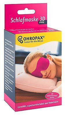 OHROPAX Schlafmaske 3D Schlafbrille in pink