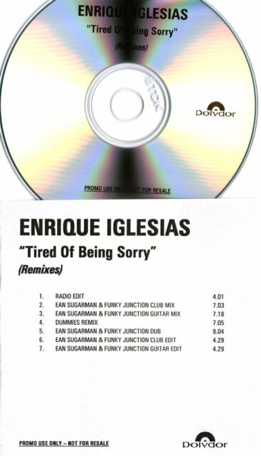 ENRIQUE IGLESIAS - Tired Of Being Sorry (7 Track Remix Promo CD) - EAN SUGARMAN