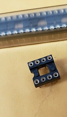 Ic Machined Socket 8 Pin Dip 0.1 Pitch 0.3 Row Spacing 10 Pieces