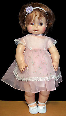 "Vintage Eegee Softina 21"" Doll - Reddish Brown Hair - Brown Eyes - VGC"