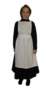 Girls Victorian / Edwardian Maids Pinafore Apron Fancy Dress Costume