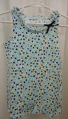Girl's Lands End Floral Tank Shirt 5 - 6