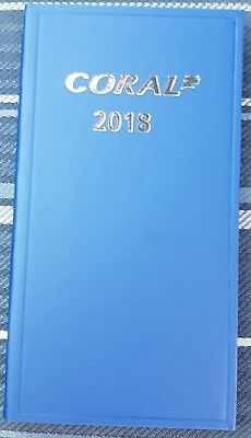 "HARD BACK ""CORAL"" 2018 POCKET HORSE RACING & SPORTS DIARY (SAME DAY DISPATCH !!)"