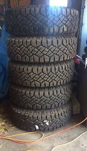 Goodyear Wrangler Duratrac tires and jeep rims