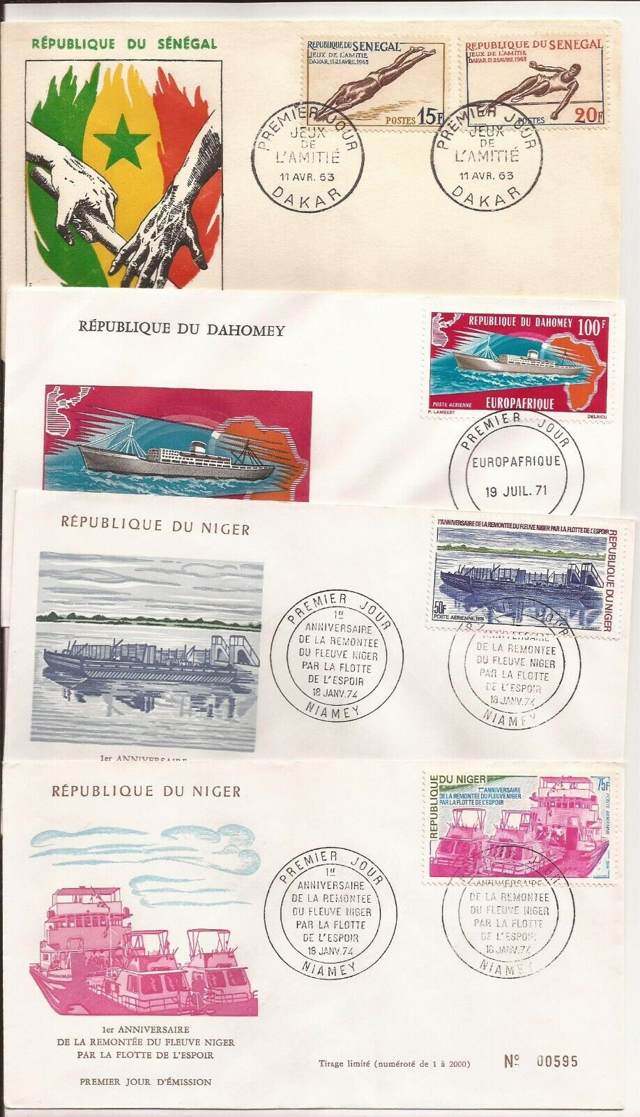 AFRICA- 46 Mixed Covers, Various Eras Few Dupes Couple Of Sets - $30.00