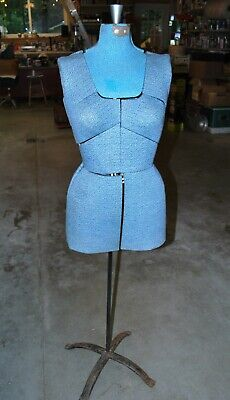 Vintage Dress Form Mannequin Adjustable Dress Maker Store Display Wstand