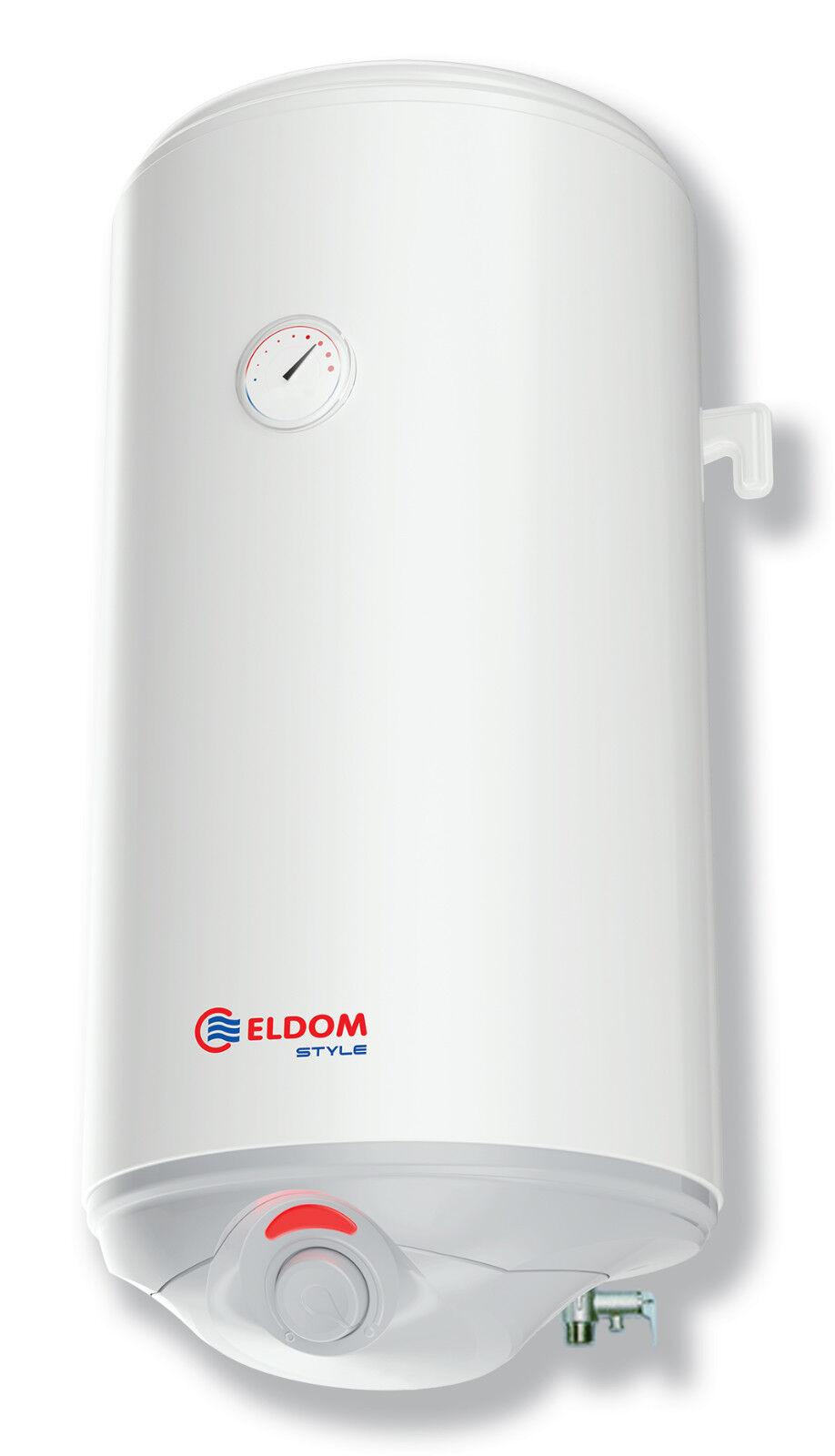Warmwasserspeicher Boiler Warmwasserbereiter 50L druckfest Eldom Style
