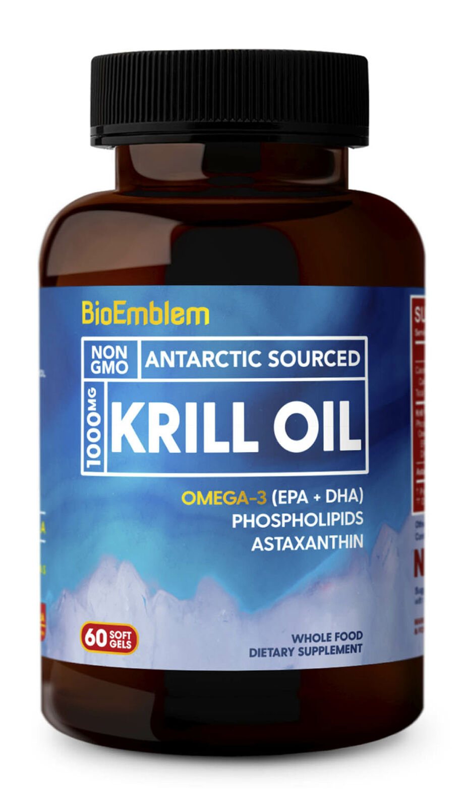 Antarctic Krill Oil Supplement|Omega-3 Oil w/ High Levels of