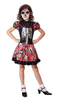 Day Of The Dead Girl, Medium, Halloween, Childs Kostüm #DE ()
