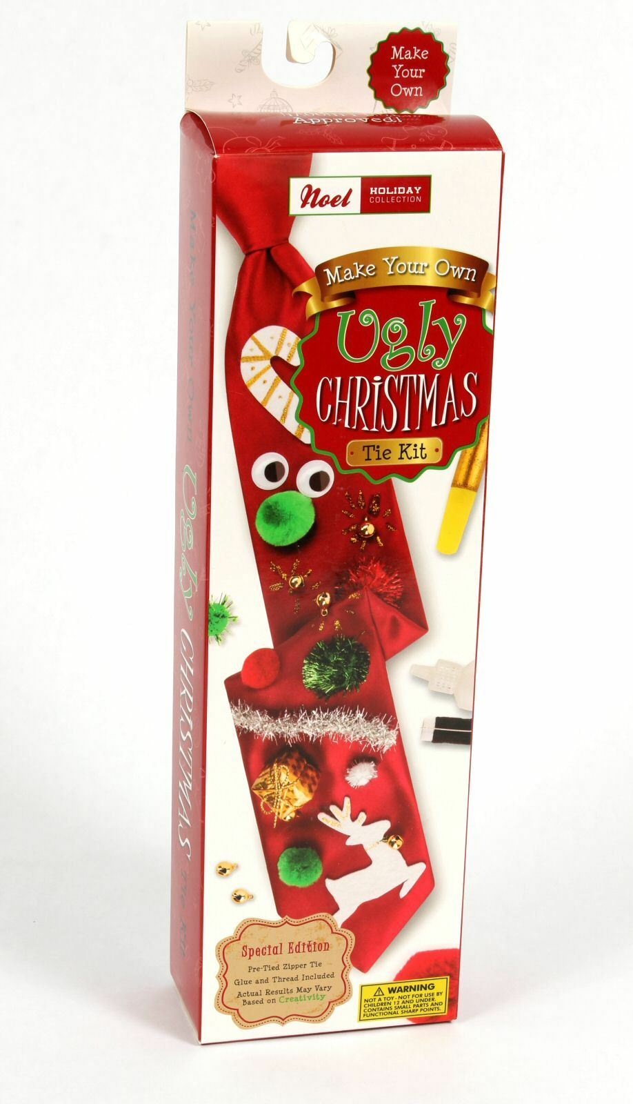 New holiday make your own ugly christmas tie kit pre tied do it new holiday make your own ugly christmas tie solutioingenieria Choice Image