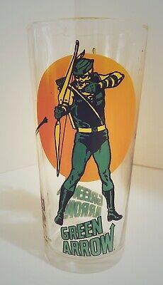 Vintage Green Arrow Pepsi Superhero Character Glass 1976