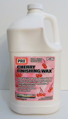 PRO Cherry Liquid Carnauba Wax Cleans-Protects 1Gal. Best on Ebay ~ Since (Best Liquid Carnauba Wax)