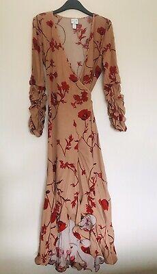 Johanna Ortiz x Hm Crepe Floral Dress UK S