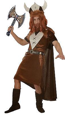 Wikinger Kostüm Samt + Axt Krieger Seefahrer Gr. M/L Mittelalter Vikinger (Mittelalter Krieger Kostüm)