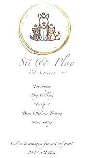 Sit & Play Pet Services