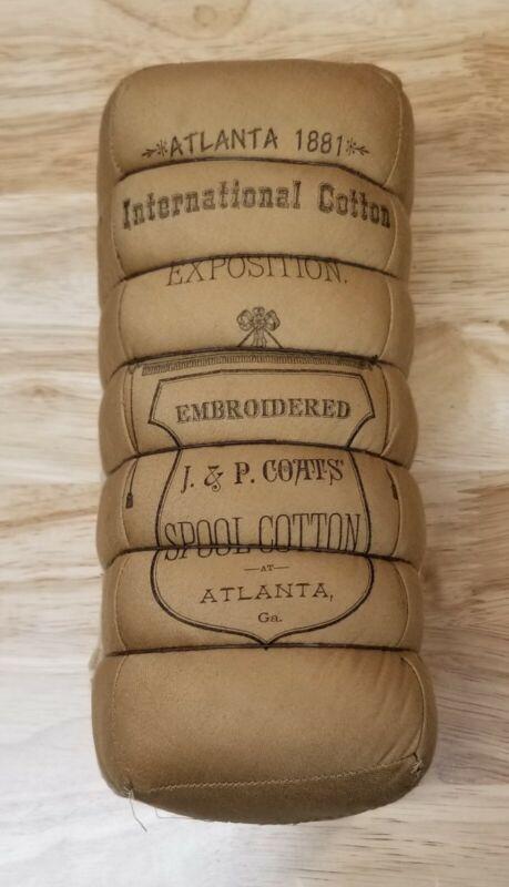 1881 INTERNATIONAL COTTON EXPOSITION SOUVENIR BALE J. & P. COATS - NICE!