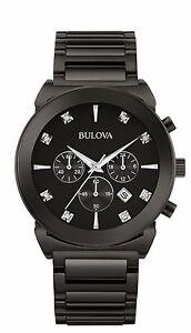 Bulova-Men-039-s-98D123-Diamond-Dial-Chronograph-Quartz-Black-Stainless-Steel-Watch