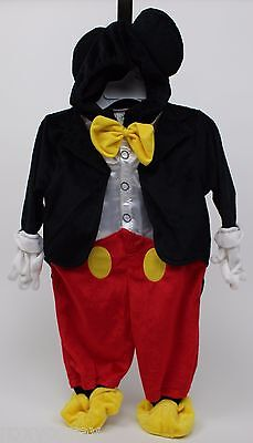 Halloween Disney Clubhouse Mickey Mouse Plush Tuxedo Costume Size 9-12 - Halloween Costumes 9 12 Months