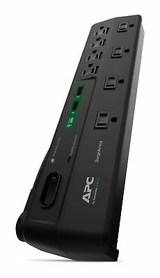 APC 8-Outlet Surge Protector 2630 Joules with USB Charger Po