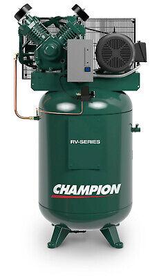 Champion Vrv7-12 Fully Packaged Compressor 7.5 Hp Single Phase 120 Gal 230v Acac