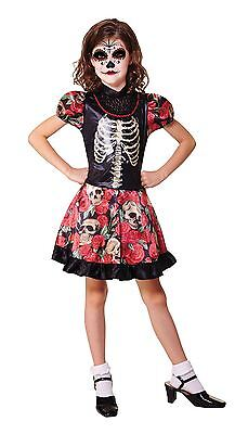 Day Of The Dead Girl, Large, Halloween, Childs Kostüm #DE ()