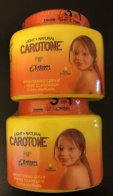 2 LIGHT & NATURAL CAROTONE Cream Complexion  Just 3 Weeks 135 ml FREE -