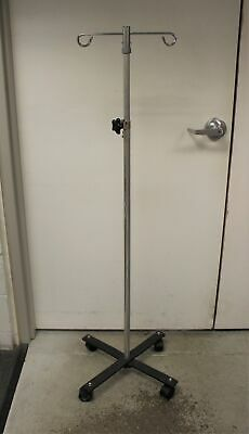 Rolling Wheeled 2-hook 4-leg Iv Stand Pole - Adjustable - Used Style 3