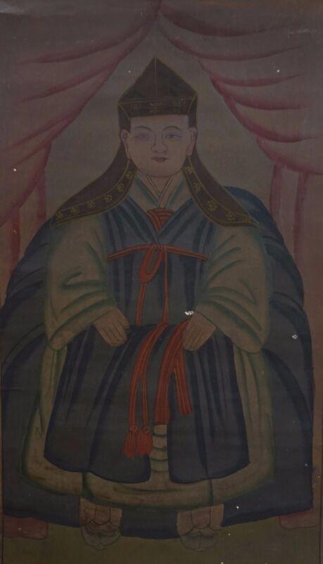 "Very Rare Korean 19th Century Scroll Shamanism ""MooSokShinAhm"" on Fabric"