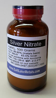 Silver Nitrate - 500 Grams 99.95 Pure Freshly Made