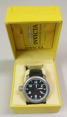 INVICTA Men's 50mm SEA HUNTER Black Dial Stainless Steel Lefty Watch 1544