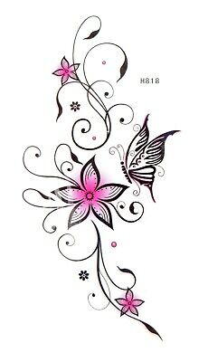 flower butterfly temporary tattoo armband face decor Flower Armband Tattoos